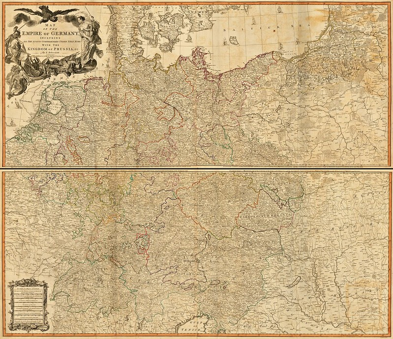 Laurie & Whittle - Map of the Empire of Germany (1794)