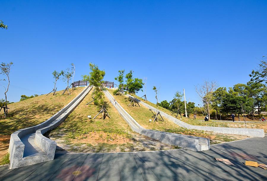 大雅中科公園|復古磨石子滑梯02