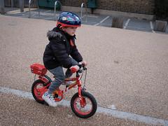 Wilfie can ride a bike