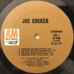 JOE COCKER:JOE COCKER(LABEL SIDE-A)