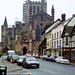 Hereford Cathedral from King Street, 28th March 1993
