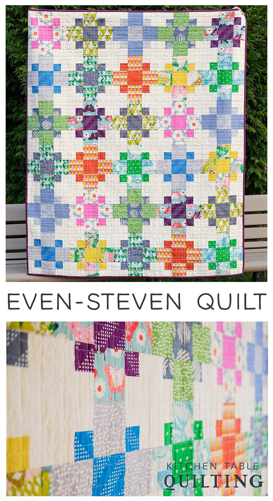 Even-Steven Super Simple Quilt - Kitchen Table Quilting