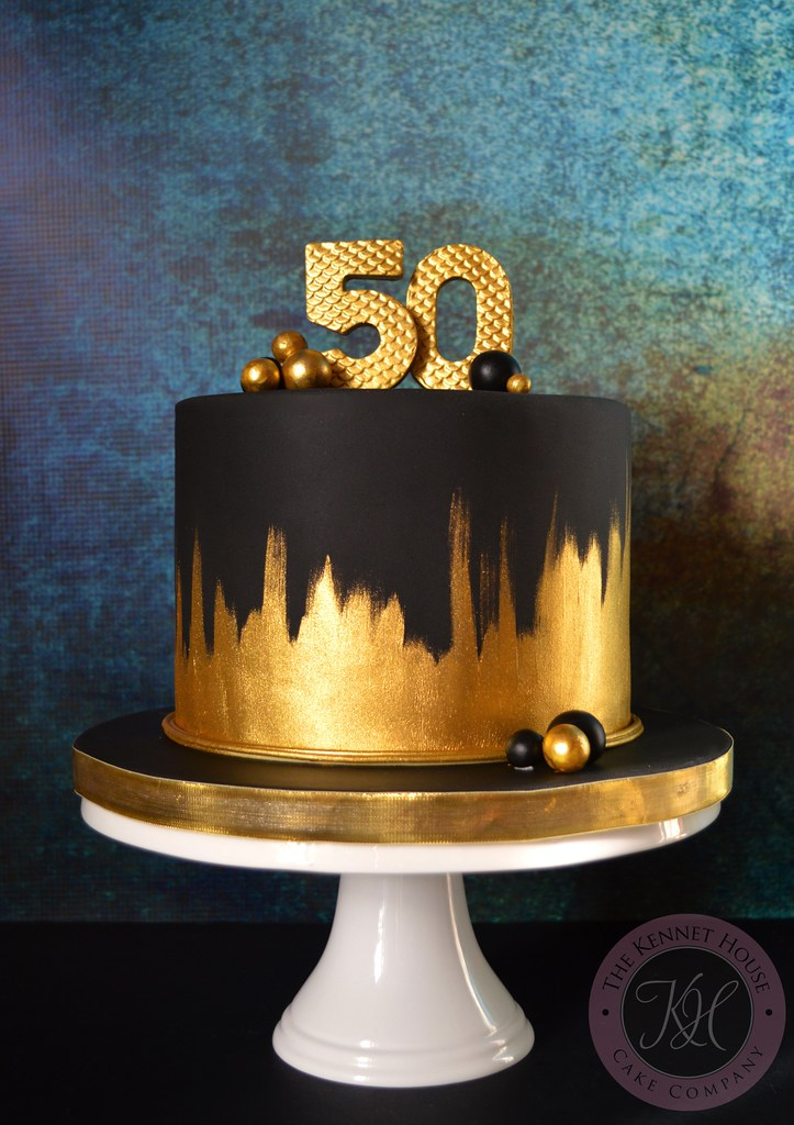 Awesome Birthday Cake Gold 50Th Birthday Cake Funny Birthday Cards Online Alyptdamsfinfo
