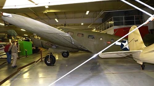 midamerica museum airplane aviation aircraft aeroplane liberal kansas usa beech beechcraft 18 at7 navigator expeditor n65314 usaaf 4350128 air johnny comstedt