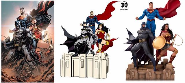 三巨頭齊聚一堂!! DC Collectibles DC 設計師系列【三位一體by Jason Fabok】DC Designer Series Trinity Statue (Jason Fabok)