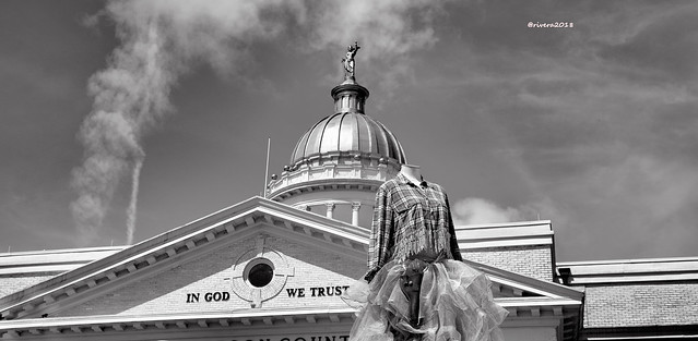 In God We Trust, the Courthouse in Hendersonville North Carolina.