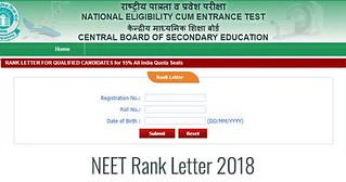 NEET Rank Letter