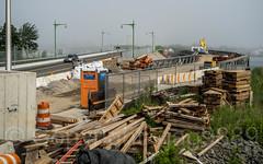 New and Temporary City Island Bridges over Eastchester Bay, Rodman's Neck - City Island, Bronx, New York City