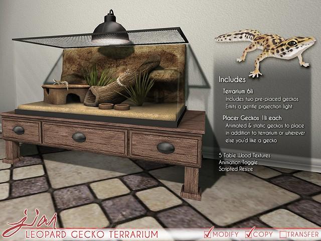 JIAN Leopard Gecko Terrarium (FaMESHed 6/18)