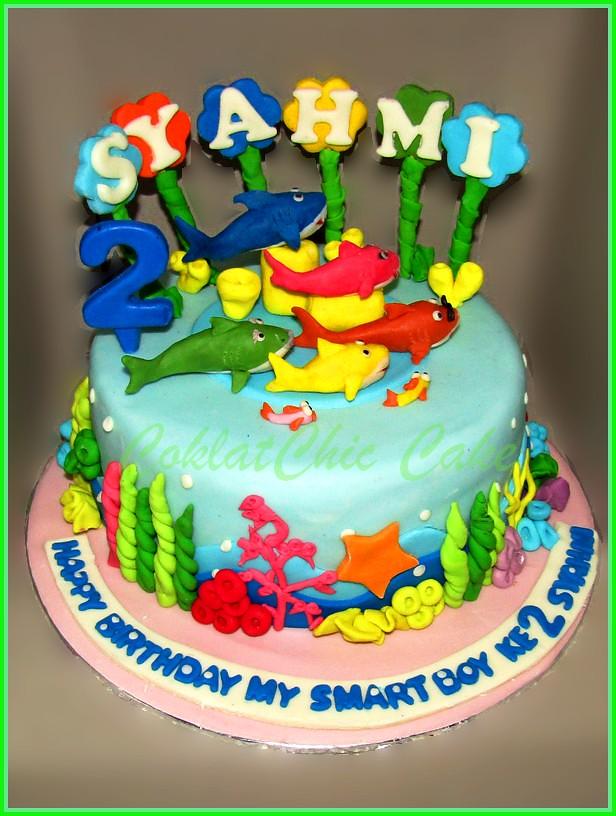 cake baby shark SYAHMI 18 cm
