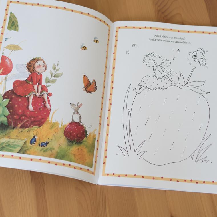 Mansikkahaltijatar puuha- ja värityskirja 2