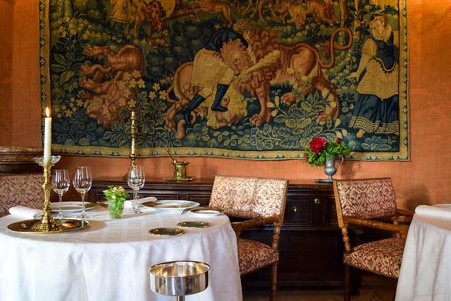 Dining Room at Chateau de la Treyne