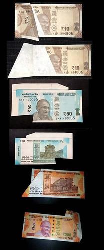 India error banknotes