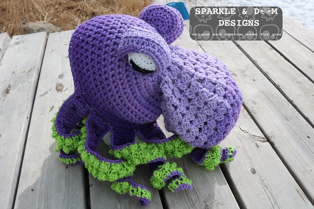 HAT Octopus Hat Purple lime b