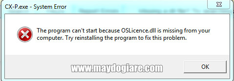 OSLicence.ll is missing error