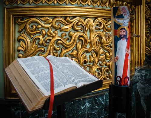 Evangelio en Capilla Bautismal
