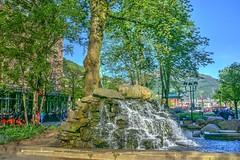 Fuente en el centro de Bergen
