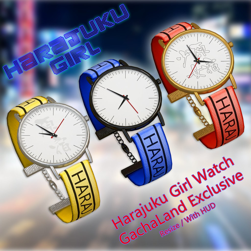 Harajuku Girl Watch - GachaLand Exclusives - TeleportHub.com Live!