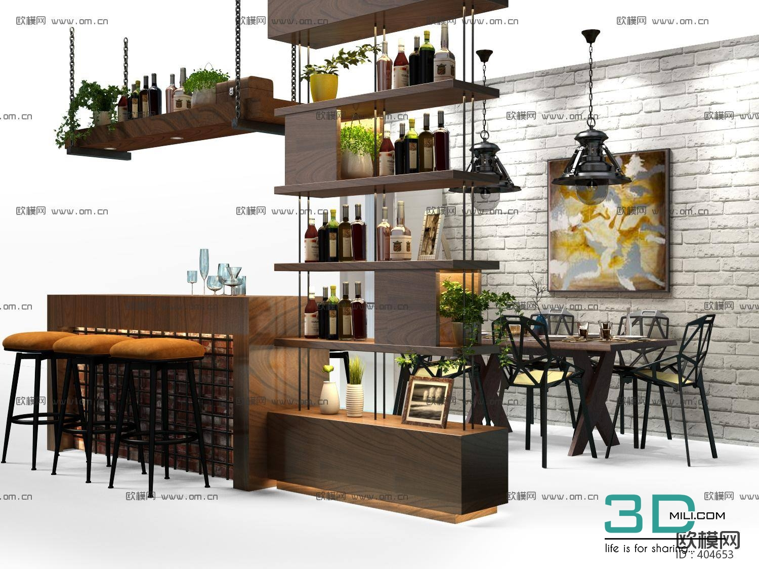 3dSkyHost: COFFE BAR 3d Model -  3dsmax File Free Download