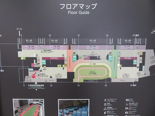福島競馬場の2階フロアマップ