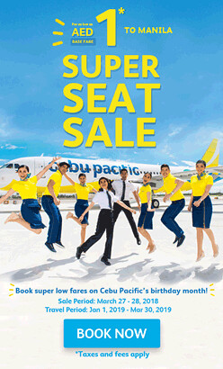 Super Seat Sale Cebu Pacific Dubai