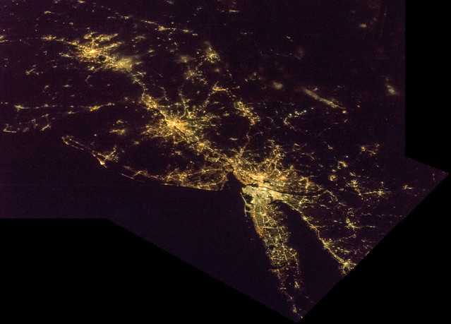New York and North East United States at Night