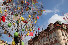 Easter Tree in Prague Old Town Square