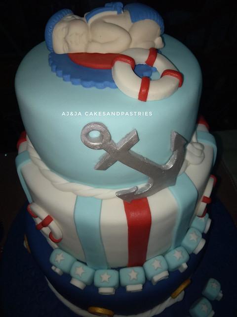 Nautical Cake by Anika Katutubo of AJ&JA CAKESandPASTRIES