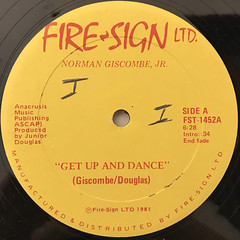 NORMAN GISCOMBE, JR.:GET UP AND DANCE(LABEL SIDE-A)