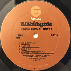 THE  BLACKBYRDS:UNFINISHED BUSINESS(LABEL SIDE-A)