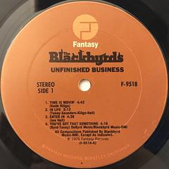THE  BLACKBYRDS:UNFINISHED BUSINESS(LABEL SIDE-A)