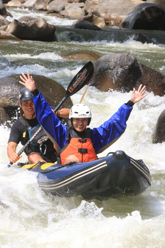 White Water Rafting Hands Free