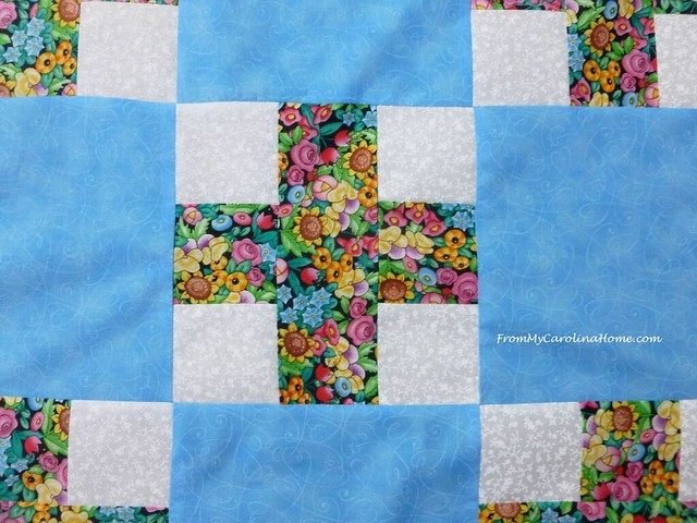 Floral Plus Sign Quilt at From My Carolina Home