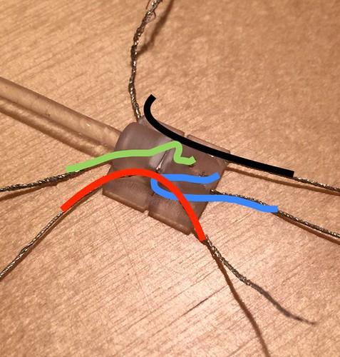 Sebastian's 3D printed e-textile Neopixel connector