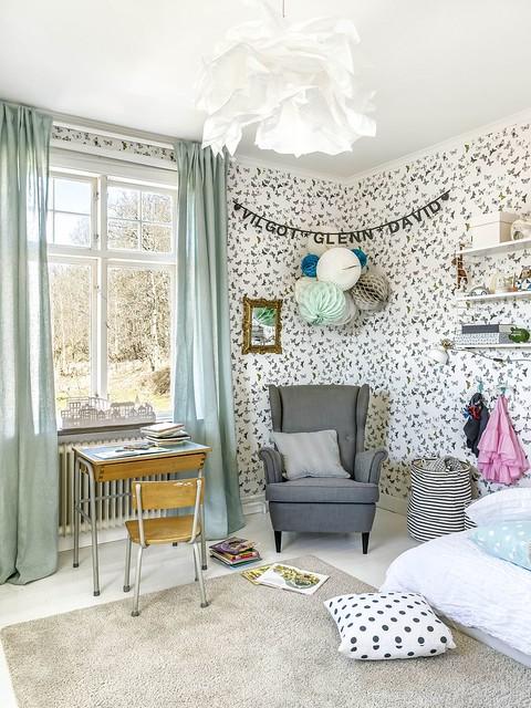 12 habitación infantil papel funky Mimoutapet Mariposa