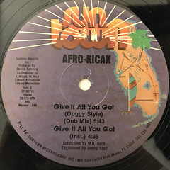 AFRO-RICAN:GIVE IT ALL YOU GOT(LABEL SIDE-B)