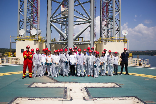Texas Engineering students visit an offshore rig in Pula, Croatia to garner field experience