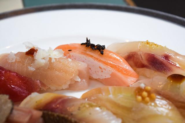 Salmon and Parmesan Sushi at Yashin Ocean House, Kensington #sushi #london #kensington