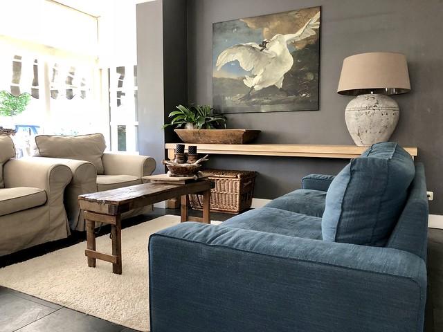 Schilderij zwaan woonkamer landelijke stijl