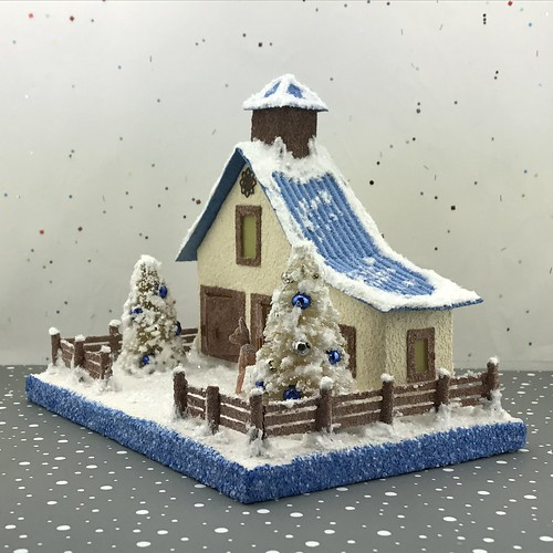 Ivory and Blue Putz Barn