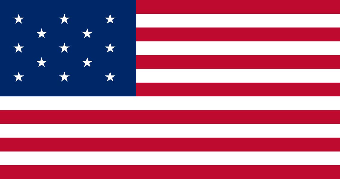 Flag of United States, 1777-1795