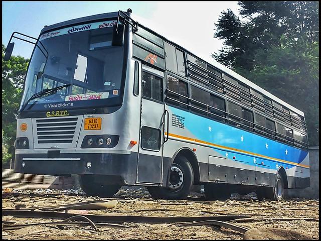 Gsrtc Sleeper Coach Bus Surat to Upleta