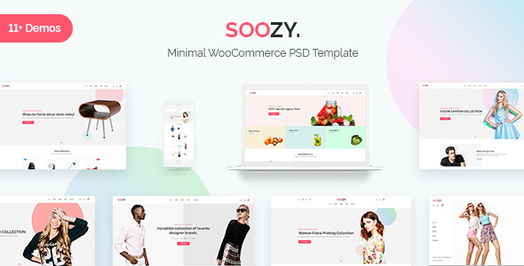Soozy - Minimalist WooCommerce Psd Template