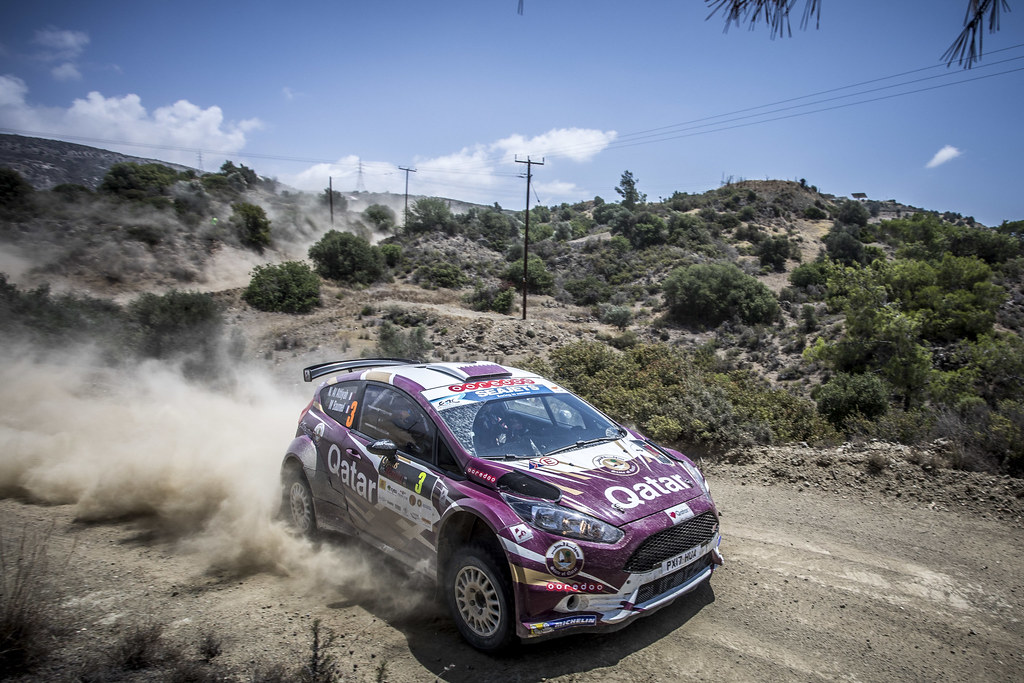 03 ALATTIYAH Nasser (QAT), BAUMEL Matthieu (FRA), NASSER ALATTIYAH, FORD FIESTA R5, action during the 2018 European Rally Championship ERC Cyprus Rally,  from june 15 to 17  at Larnaca, Cyprus - Photo Gregory Lenormand / DPPI