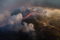 Hawaii Kilauea Volcano Fissure 8 Lava River