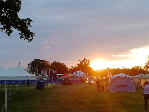 Sunrise over the campsite