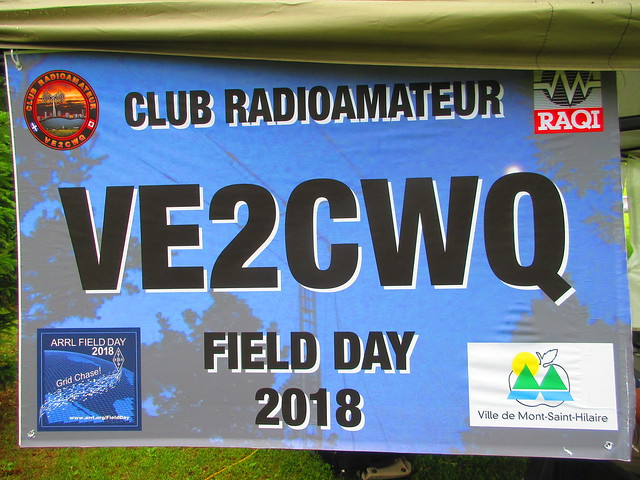 VE2CWQ Canwarn Field Day 2018