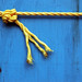 yellow rope with knot