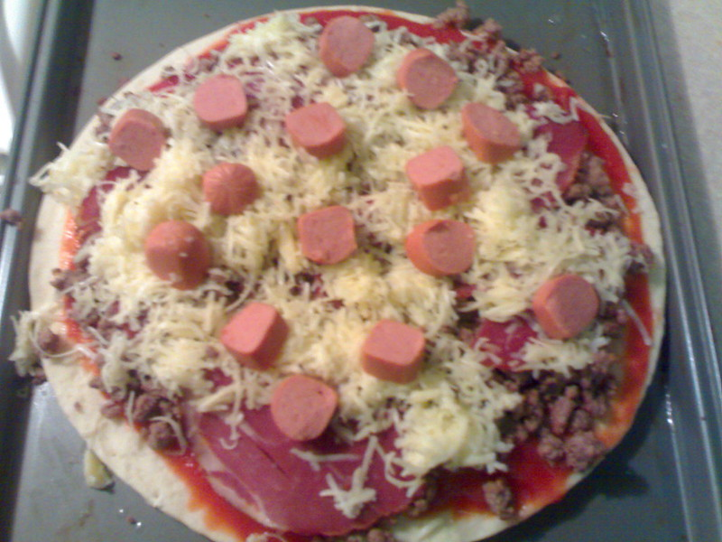 Homemade Pizza Before the Oven