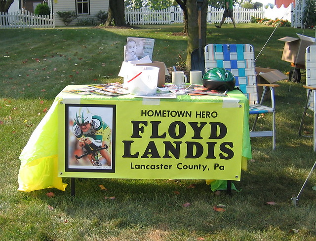 Supporters in the hometown of Floyd Landis.